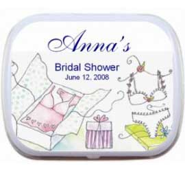 Mint Tin, Bridal Shower Lingerie Theme
