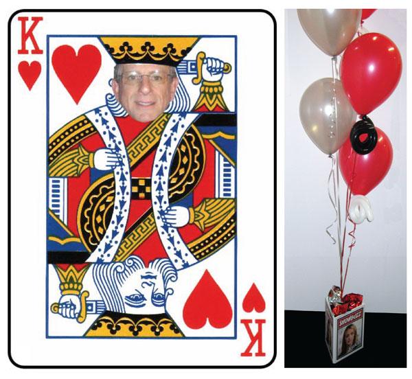 Casino, King Of Hearts Centerpiece