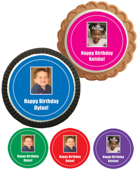 Birthday Photo Custom Cookies
