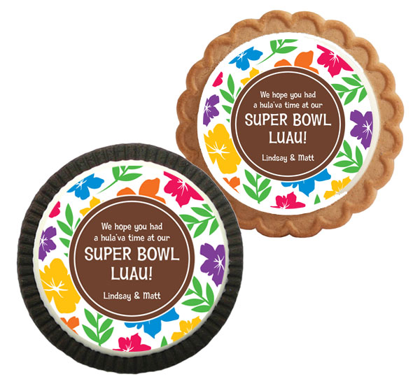 Super Bowl Luau Theme Custom Cookie