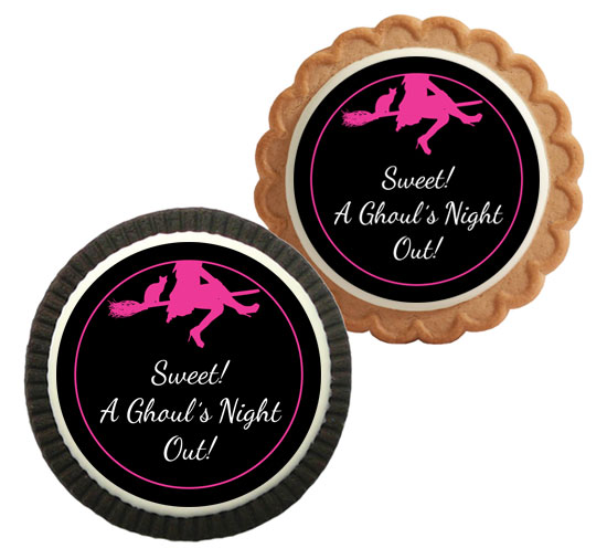 Ghoul's Night Out Halloween Theme Custom Cookie