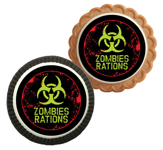 Zombie Theme Custom Cookie