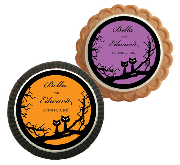 Halloween Wedding Theme Custom Cookie