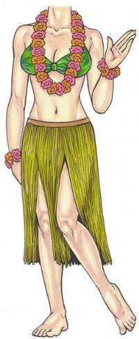 Luau Cutout, Female