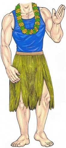 Luau Cutout, Male