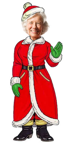 Christmas Theme Cutout, Mrs. Claus