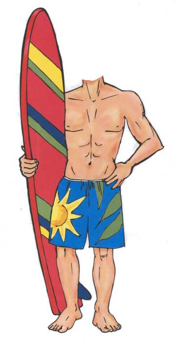 Surfer Cutout