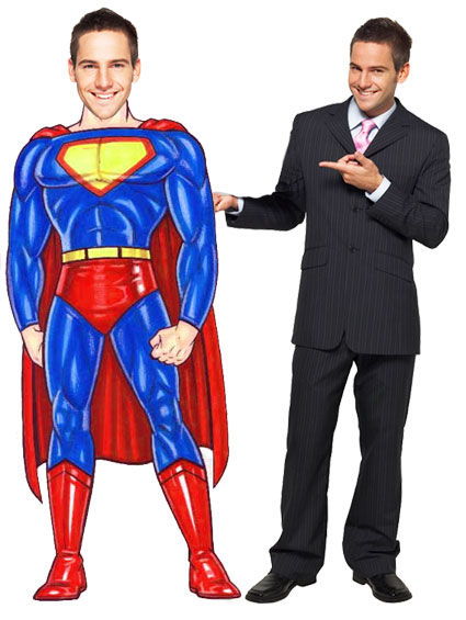 Super Hero Male Cutout
