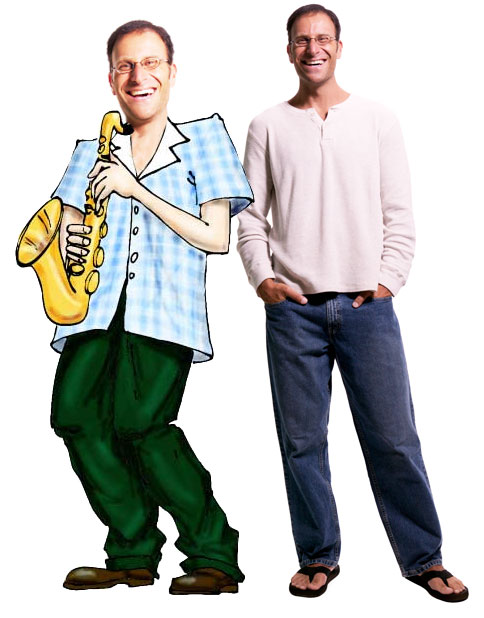 Jazz Player Theme Cutout, Caucasian