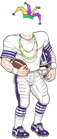 Mardi Gras Super Bowl Cutout
