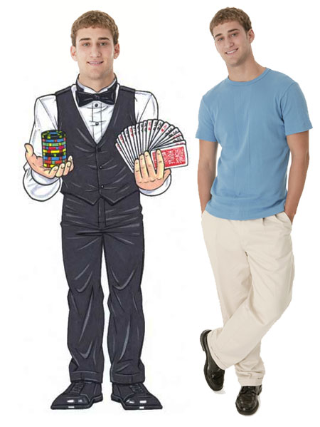 Casino Dealer Male Cutout