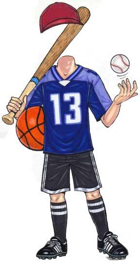 Sports Teen Cutout