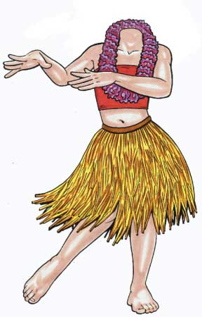 Luau Cutout, Teen Girl