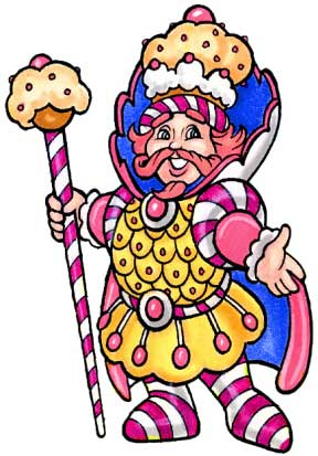 Candyland King Kandy Cutout