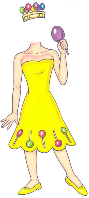 Candyland Lolly Cutout