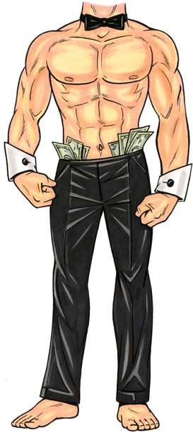 Stripper Male Cutout