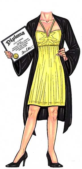 2020 Graduate Female Life-Sized Cutout