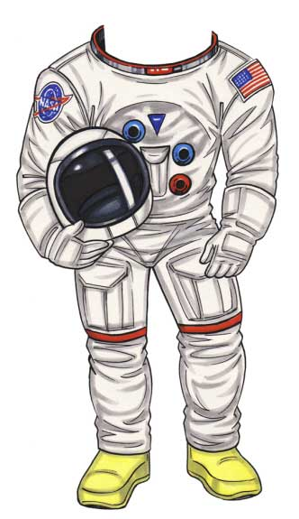 Space Explorer Cutout