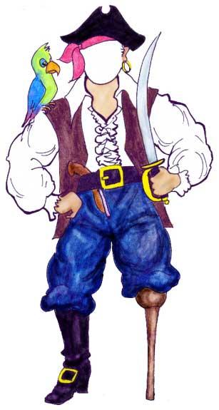 Pirate Theme Cutout