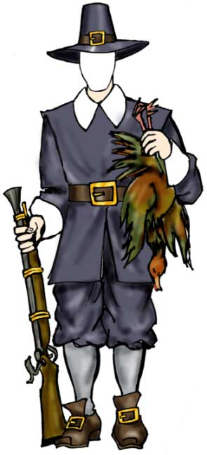 Pilgrim Male Cutout