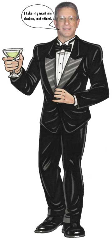 Bond With Martini Theme Cutout