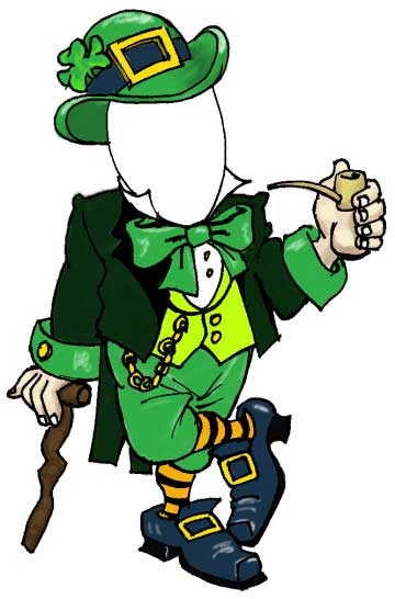 St patricks day leprechaun male cutout altavistaventures