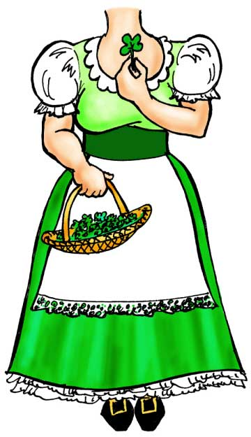 St. Patrick's Day Holiday Leprechaun Female Cutout