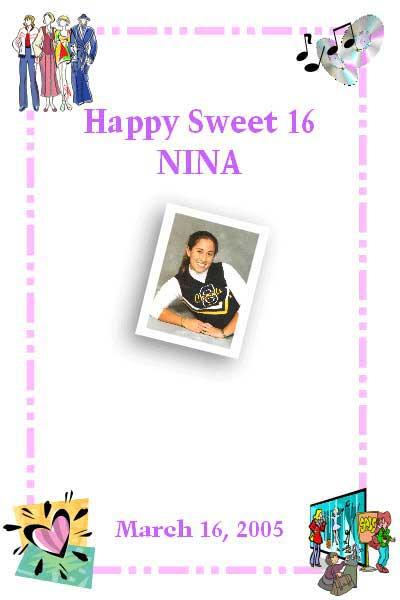 Sweet 16 Sign In Board
