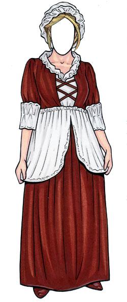 Old Fashioned Woman Lifesize Cutout