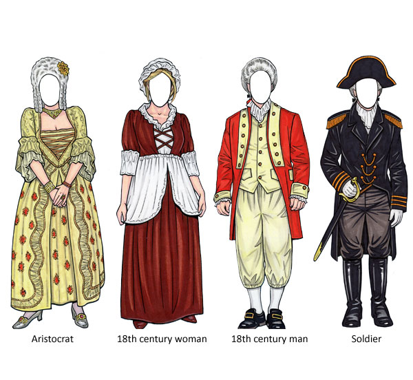 Custom 18th Century Theme Cutouts