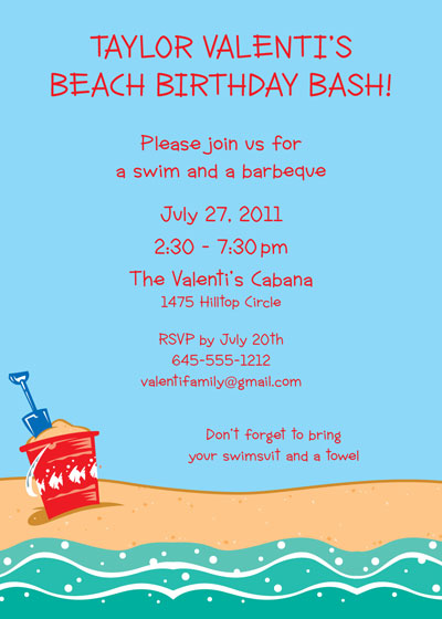 Beach Party Invitations unitedarmyinfo – Beach Themed Party Invitations