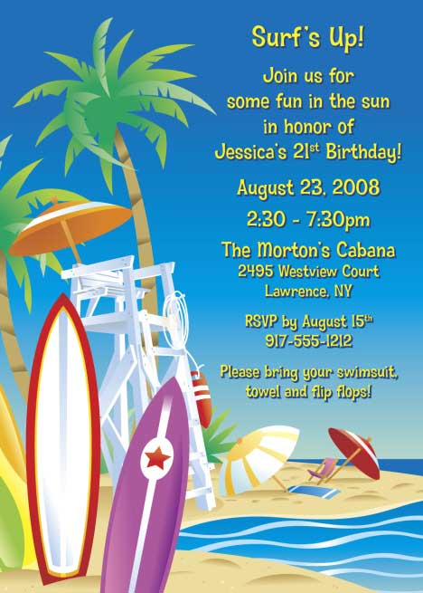 Surfs Up Beach Invitation