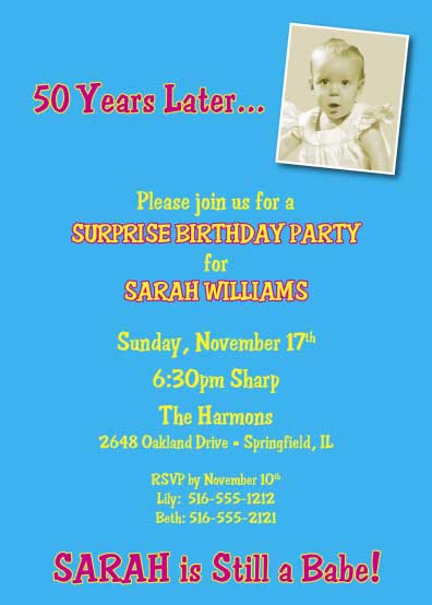Birthday Babe Photo Invitation