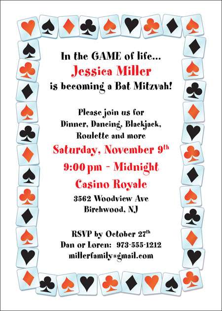 A Casino Party Invitation