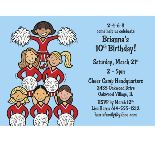 Cheerleading Team Invitation