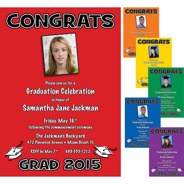 Graduation Color Choice Invitation