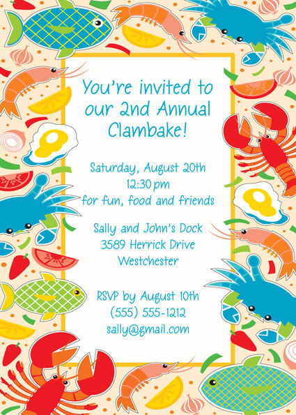 Seafood Invitation
