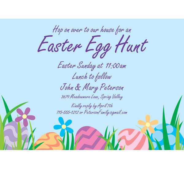 Easter Eggs Spring Invitation