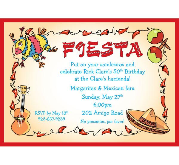 a fiesta theme invitation