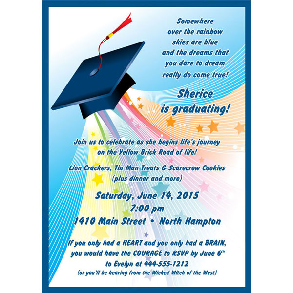 Graduation Land Of Oz Invitation