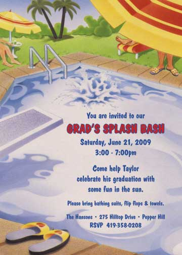 Graduation Pool Invitation