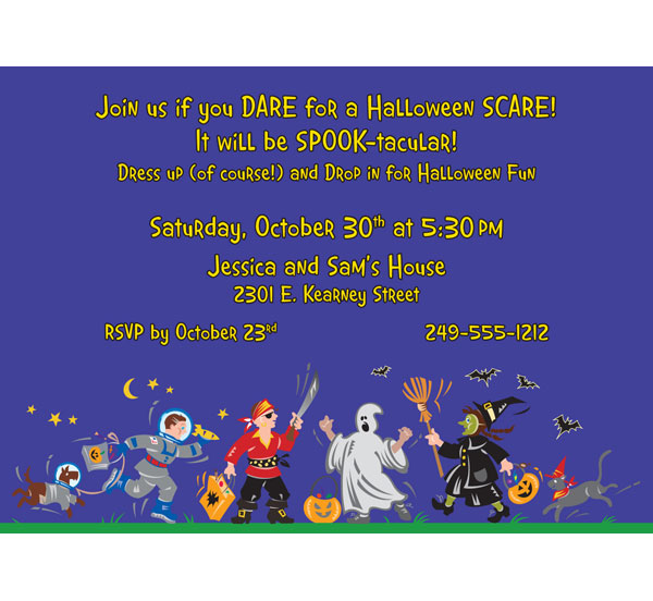Halloween Kids Trick-or-Treat Invitation