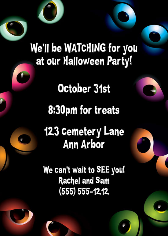 Halloween Eyes Invitation
