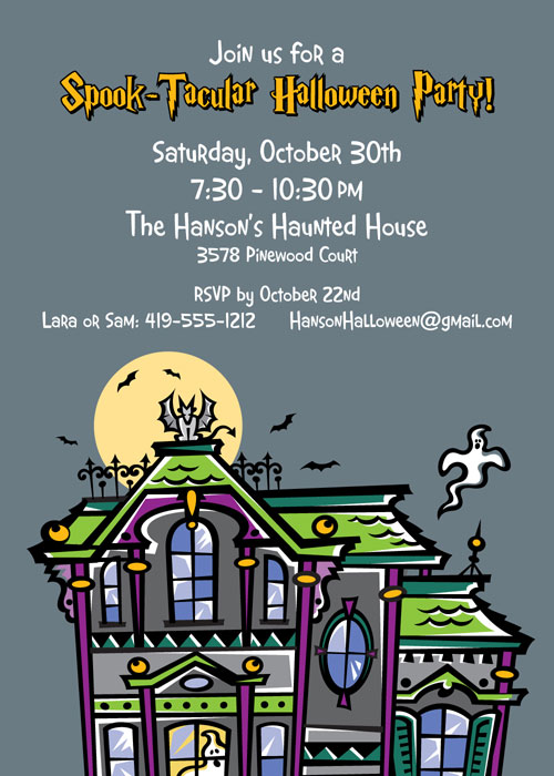 Halloween Spooky House Invitation