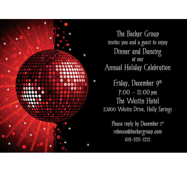 Holiday Party Invitation – Reply to Party Invitation