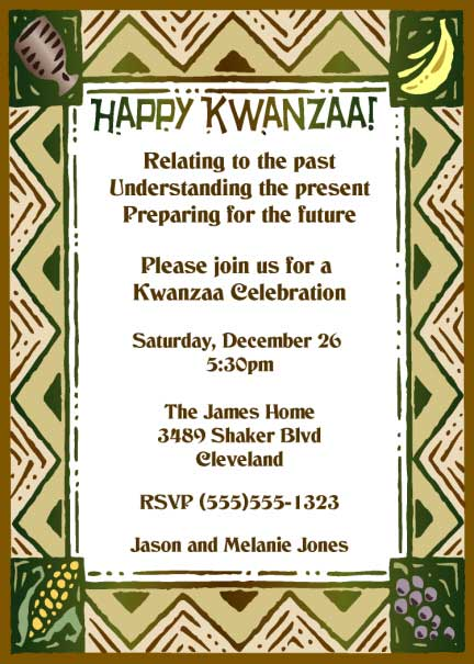 Kwanzaa Theme Invitation