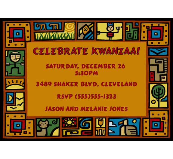 Kwanzaa Party Invitation