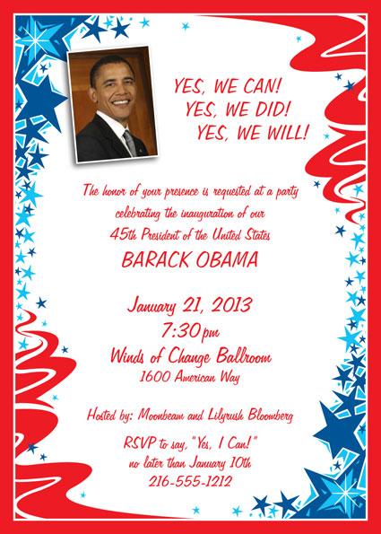 president obama inauguration invitation