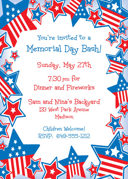 Patriotic Stars Invitation
