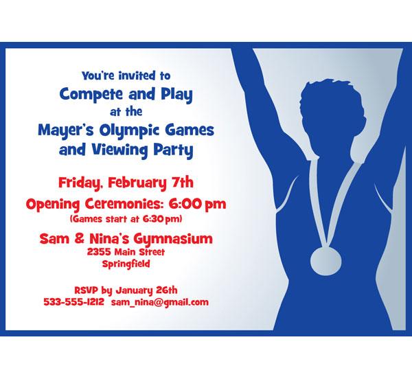 Olympics Invitation
